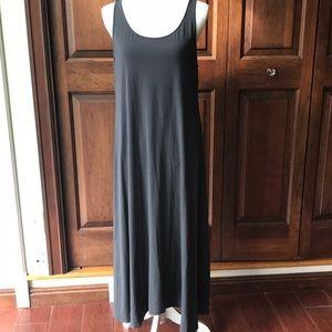 Eileen Fisher petite large gray maxi tank dress